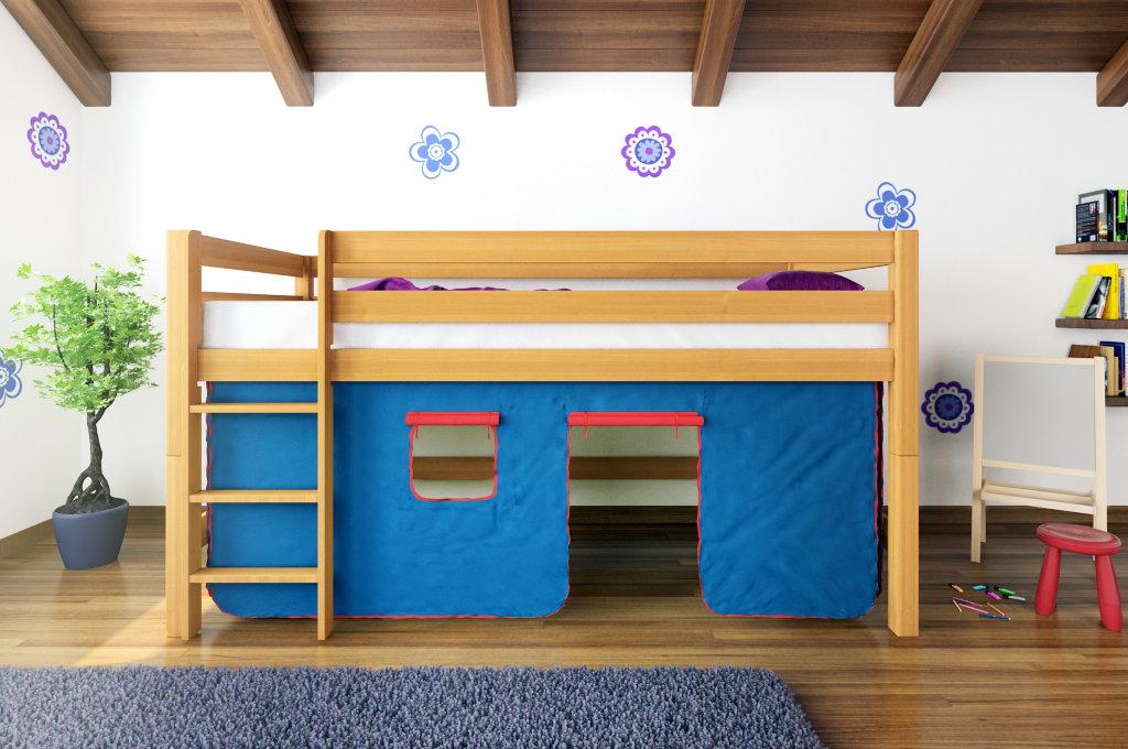 spielbett systembett hochbett buche massiv ben inkl. Black Bedroom Furniture Sets. Home Design Ideas