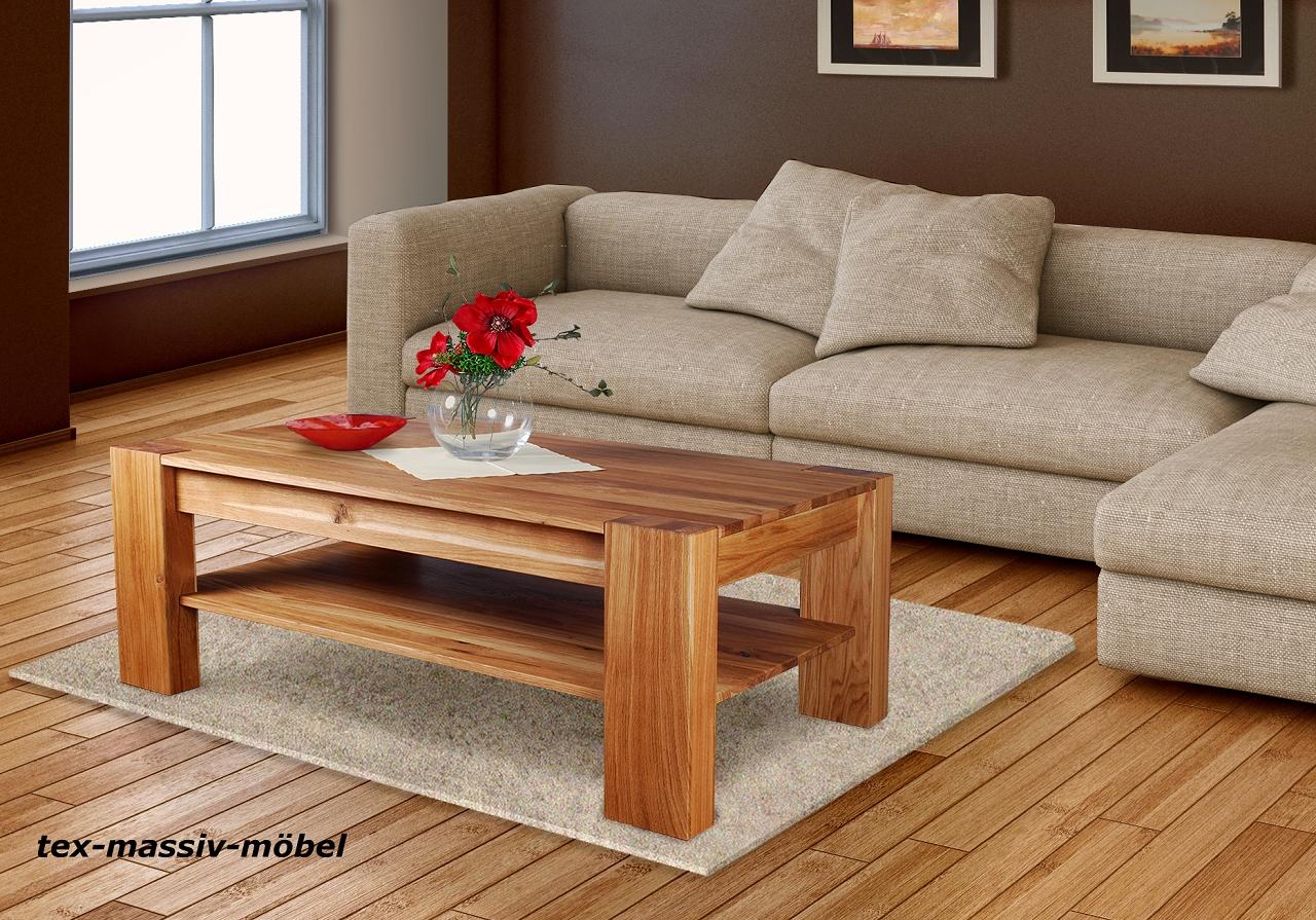 zeitloser couchtisch klaus eiche massiv ge lt 120 x 70. Black Bedroom Furniture Sets. Home Design Ideas