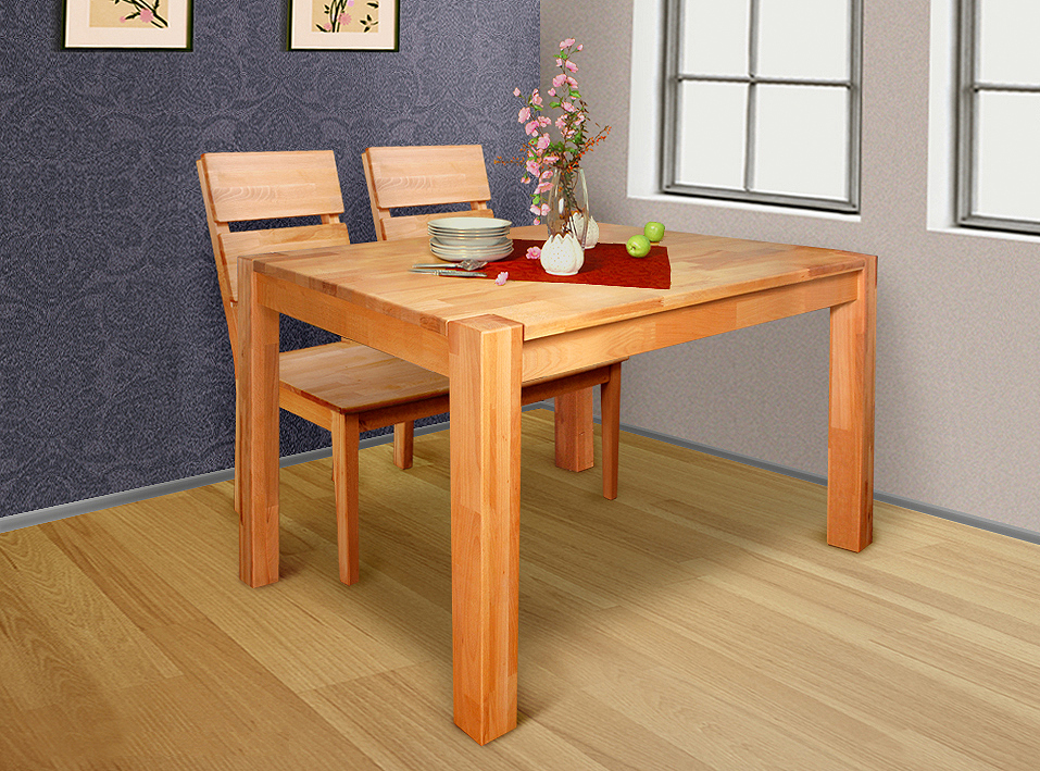 Massivholz esstisch 120x80 perfect luxus esstisch for Esstisch 80x80 ausziehbar ikea