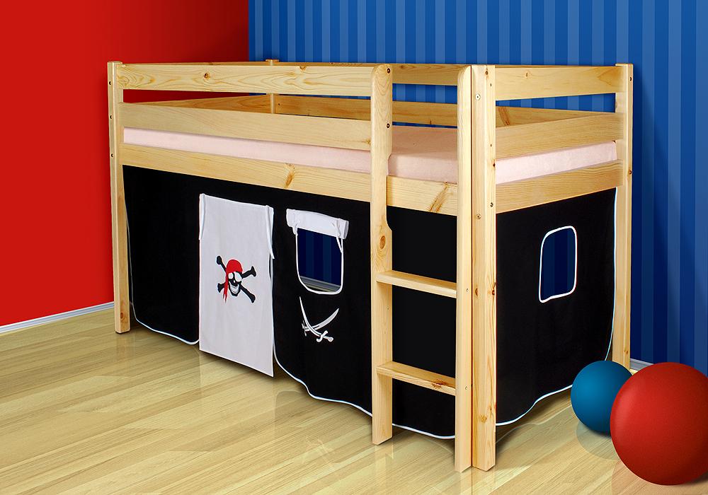 spielbett hochbett marco kiefer massiv inkl rollrost lenando. Black Bedroom Furniture Sets. Home Design Ideas