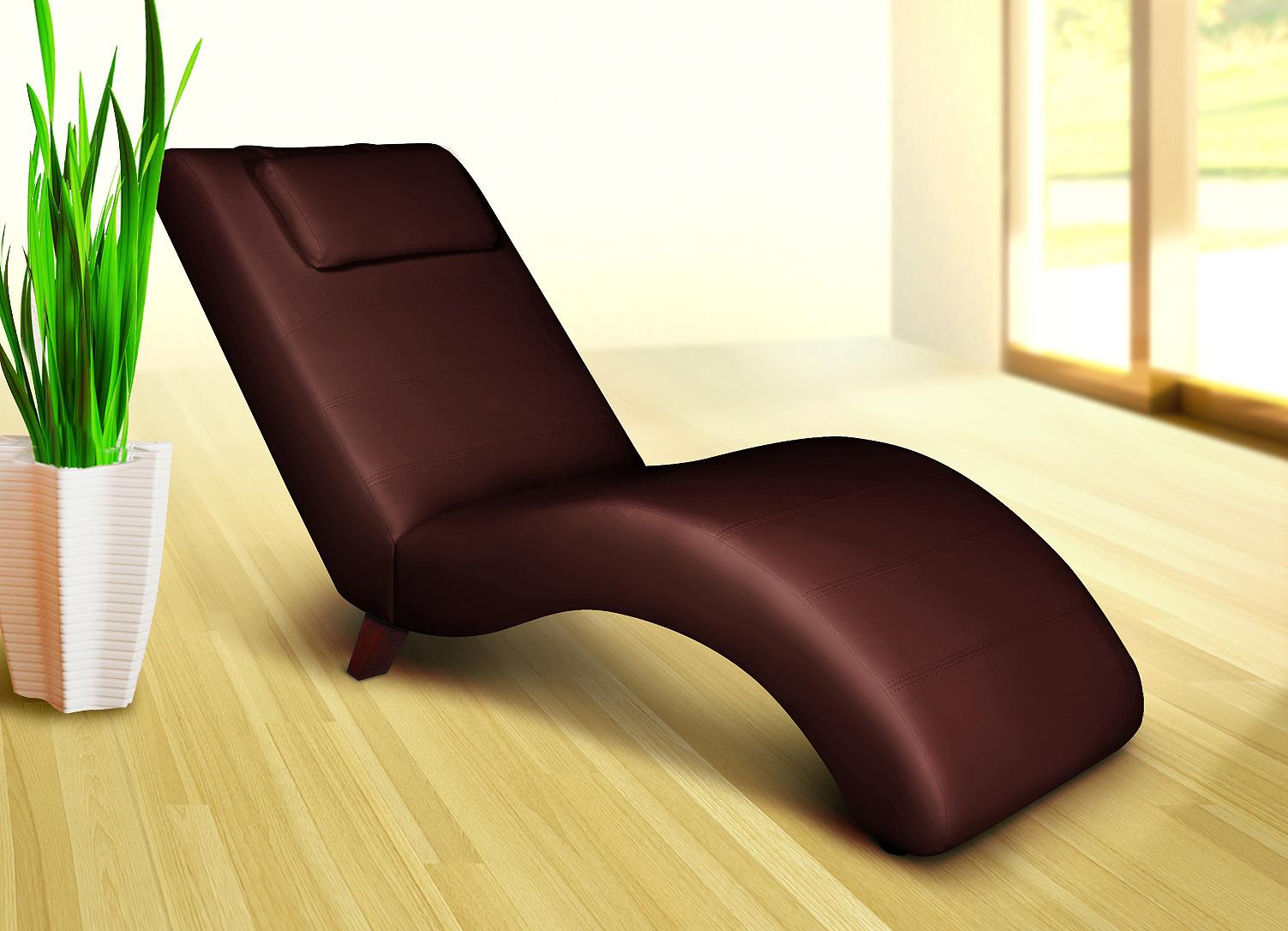 Relaxliege liege faro braun liegesessel sessel for Sessel mit stoffbezug liegesessel