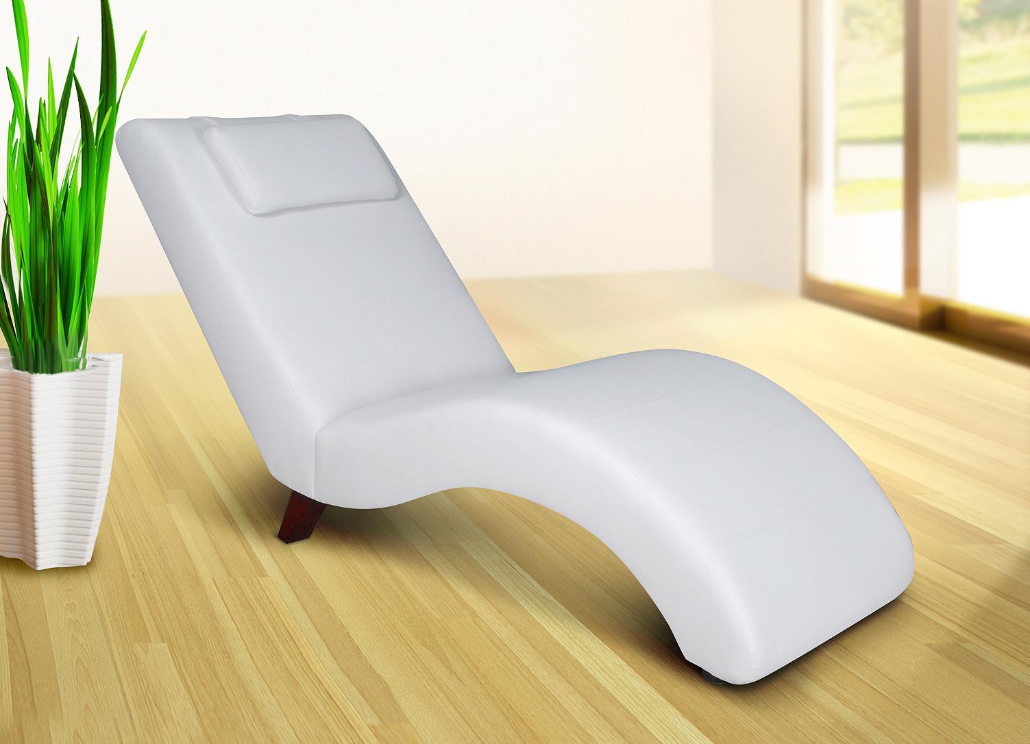 Relaxliege liege faro wei liegesessel sessel for Sessel mit stoffbezug liegesessel