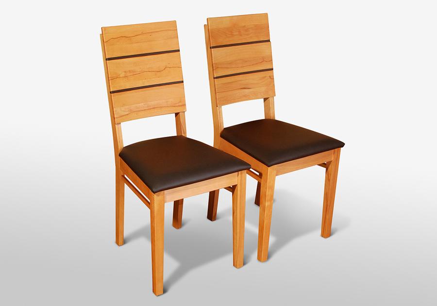 esszimmerst hle 2er set massivholz kernbuche ge lt rene echtleder braun ebay. Black Bedroom Furniture Sets. Home Design Ideas