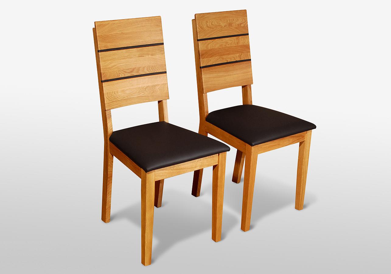 esszimmerst hle eiche esszimmerst hle holz leder m. Black Bedroom Furniture Sets. Home Design Ideas