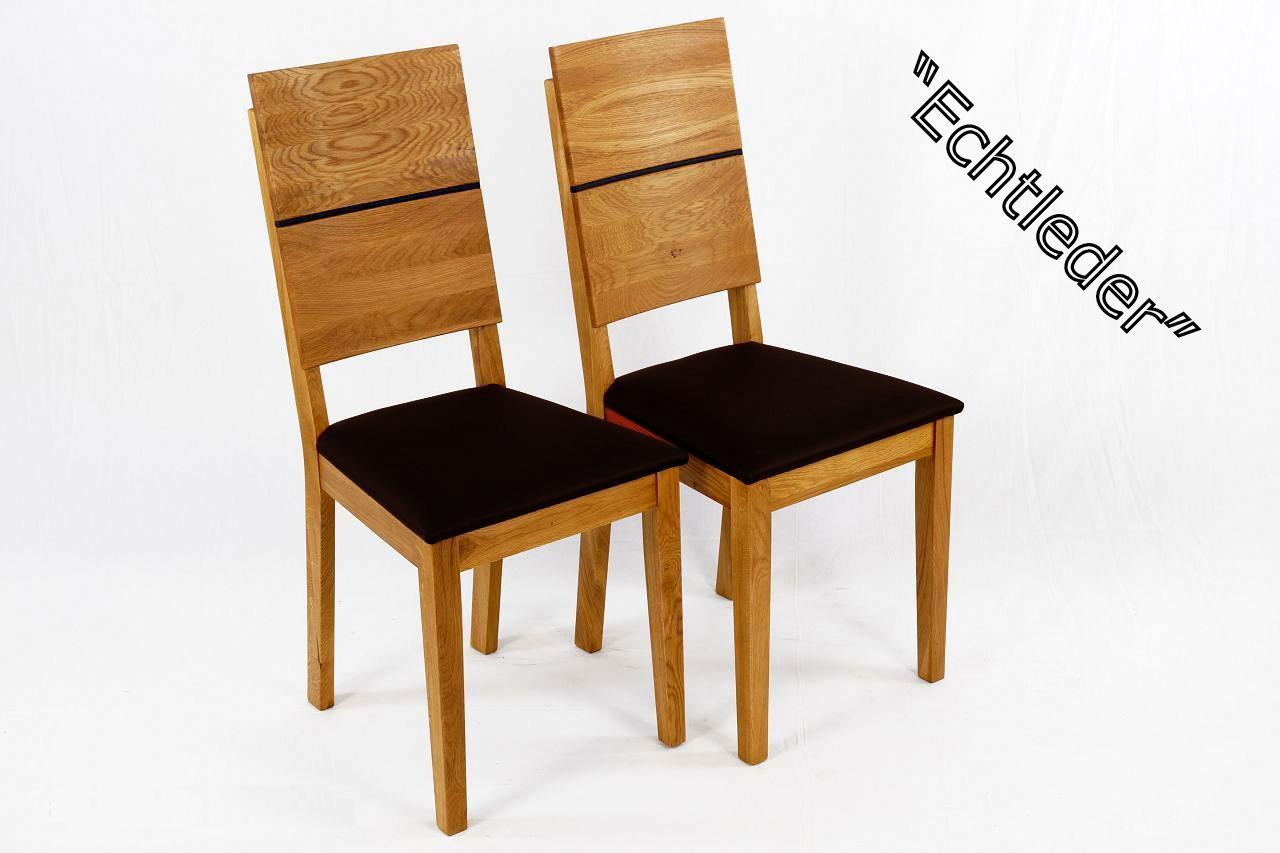esszimmerst hle 2er set massivholz eiche ge lt paul. Black Bedroom Furniture Sets. Home Design Ideas