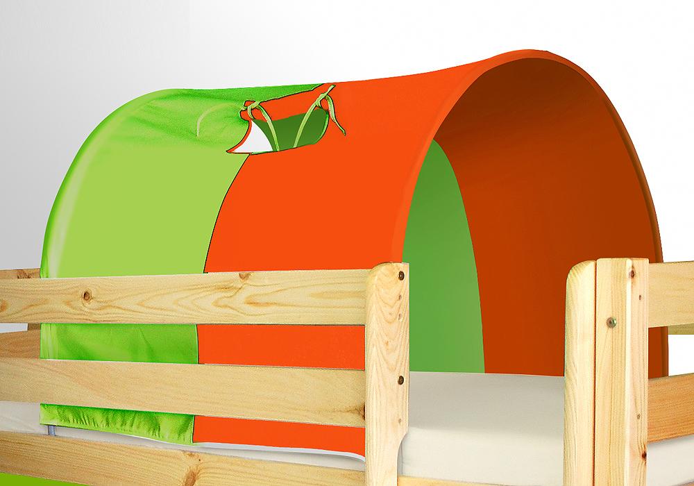 tunnel klein gr n orange f r hochbett spielbett etagenbett. Black Bedroom Furniture Sets. Home Design Ideas