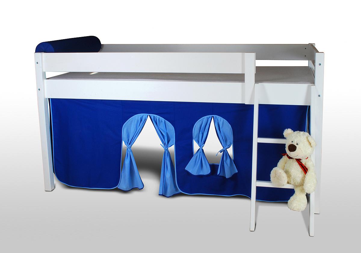 vorhangset neues design blau hellblau f r hochbet spielbett etagenbett. Black Bedroom Furniture Sets. Home Design Ideas