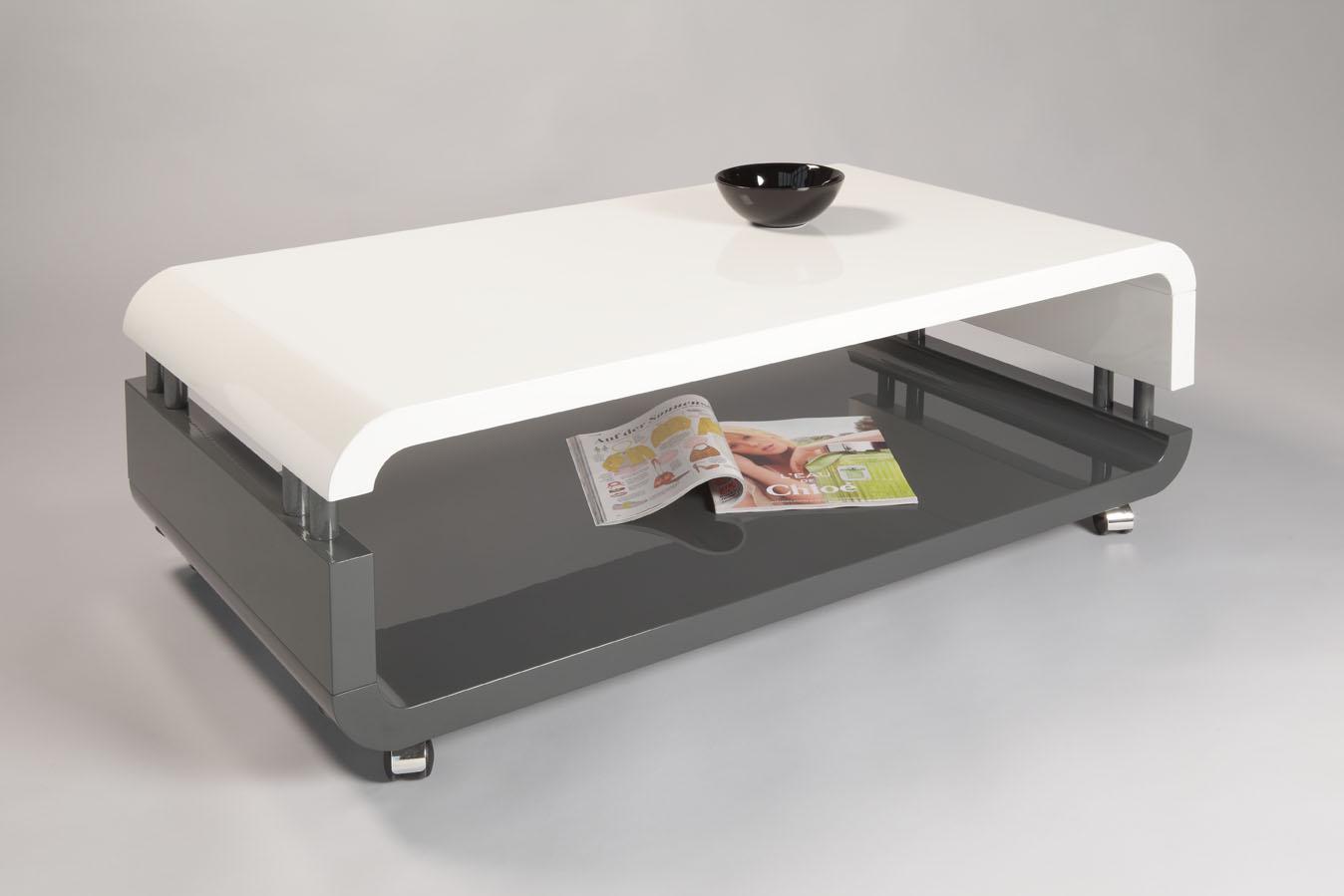 couchtisch wohnzimmertisch andrea 60x60 cm hochglanz weiss. Black Bedroom Furniture Sets. Home Design Ideas