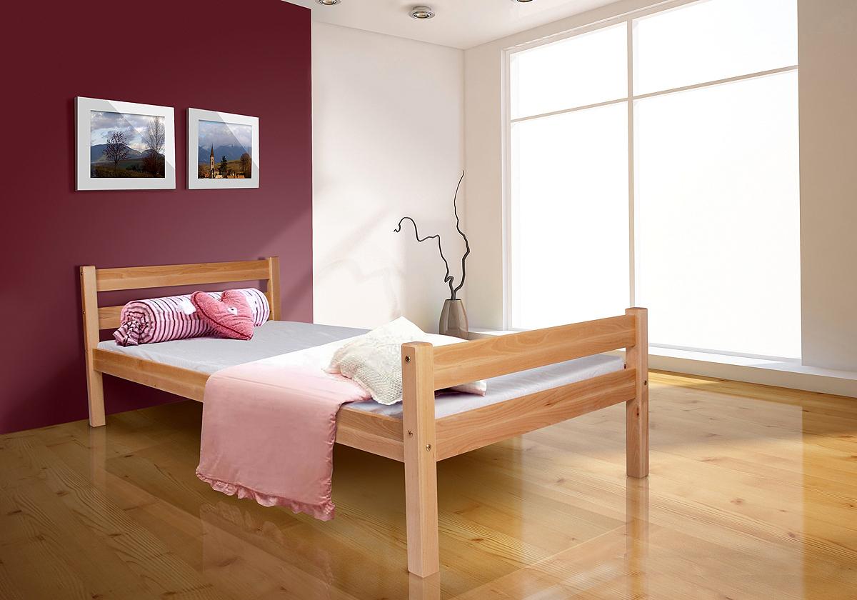 tagesbett bett helga buche massiv natur lackiert 90x200. Black Bedroom Furniture Sets. Home Design Ideas