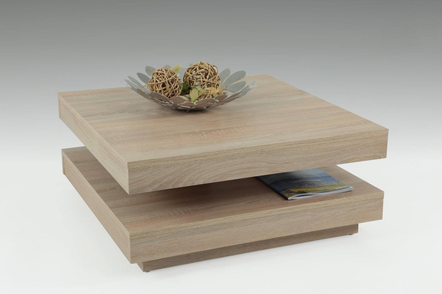 Couchtisch Beistelltisch Wohnzimmertisch -Bento- 78x78 cm Sonoma Eiche