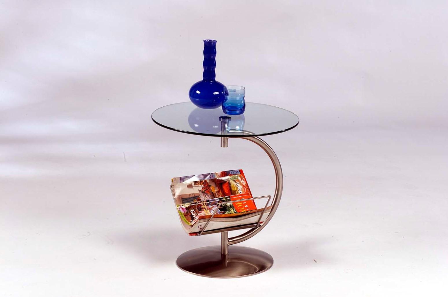 Beistelltisch Tisch - HIT-  50x53 cm mit Zeitungsablage.