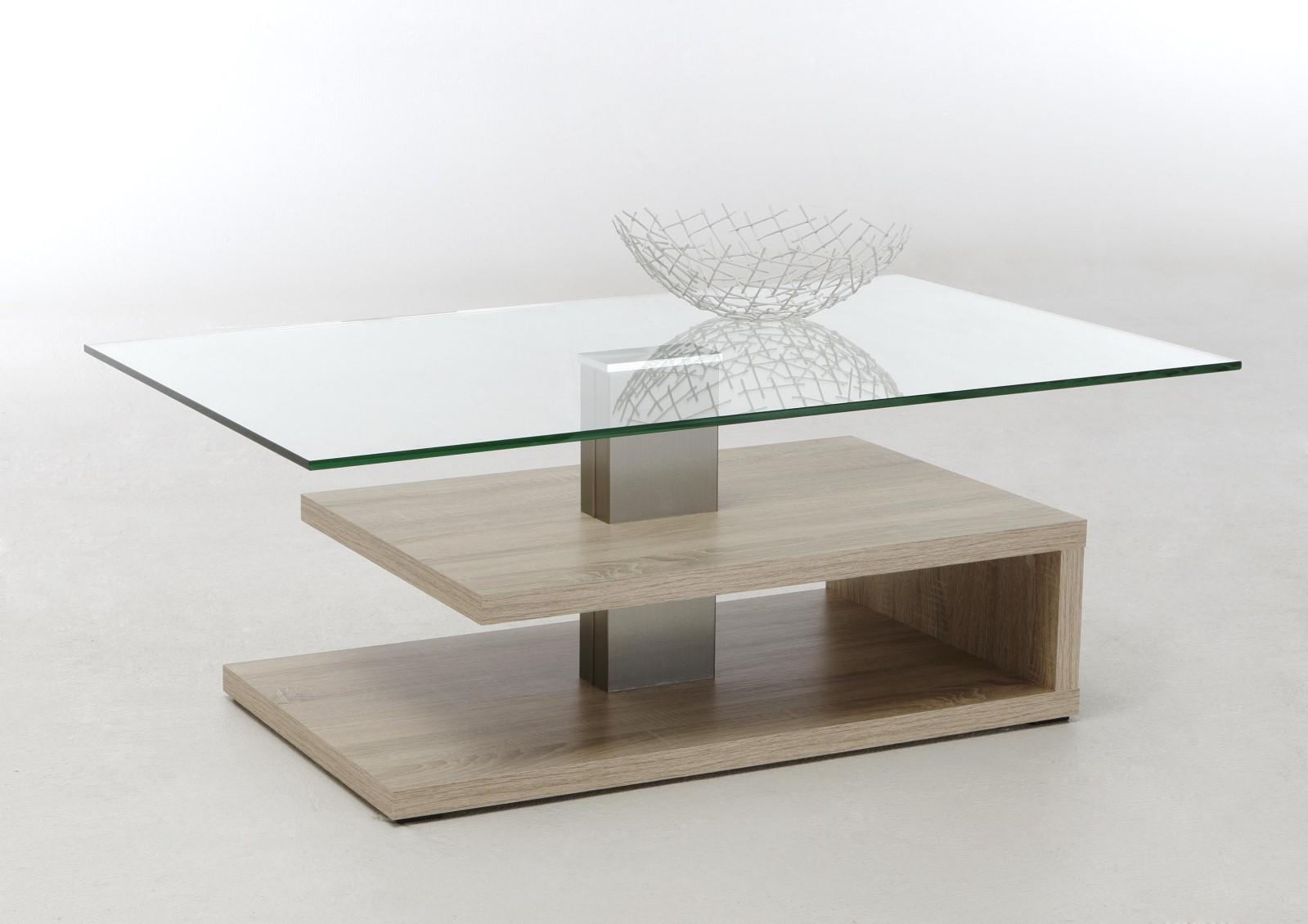 Couchtisch Wohnzimmertisch Beistelltisch - Stenli - 110x70 cm Sonoma Eiche
