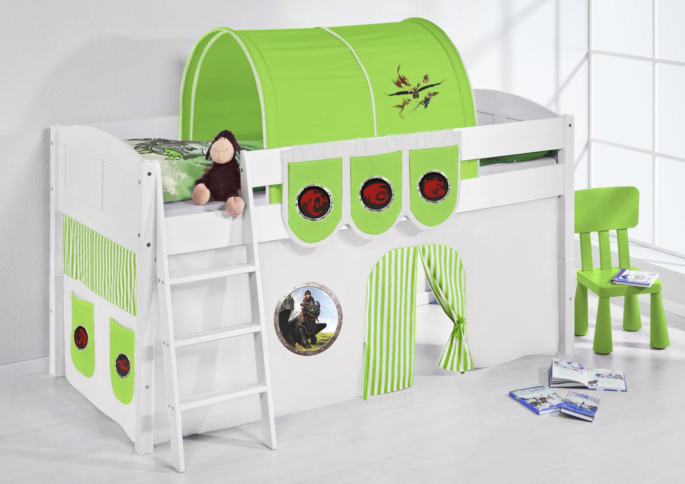 Tunnel Dinos Grün - für Hochbett, Spielbett und Etagenbett | eBay