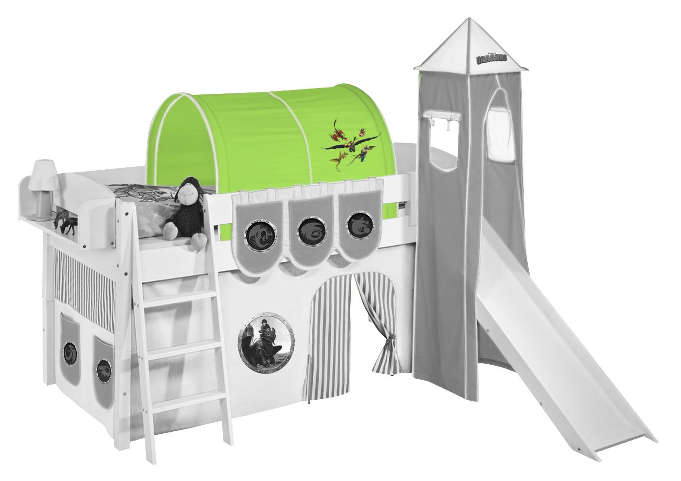 Tunnel Set Etagenbett : Tunnel dragons grün für hochbett spielbett und etagenbett ebay