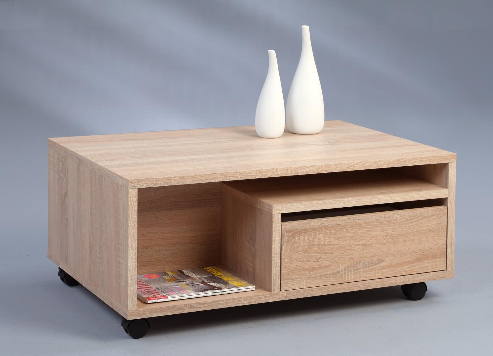 Couchtisch tisch este 90x60 cm weiss betonoptik ebay for Beistelltisch kernbuche 50x50