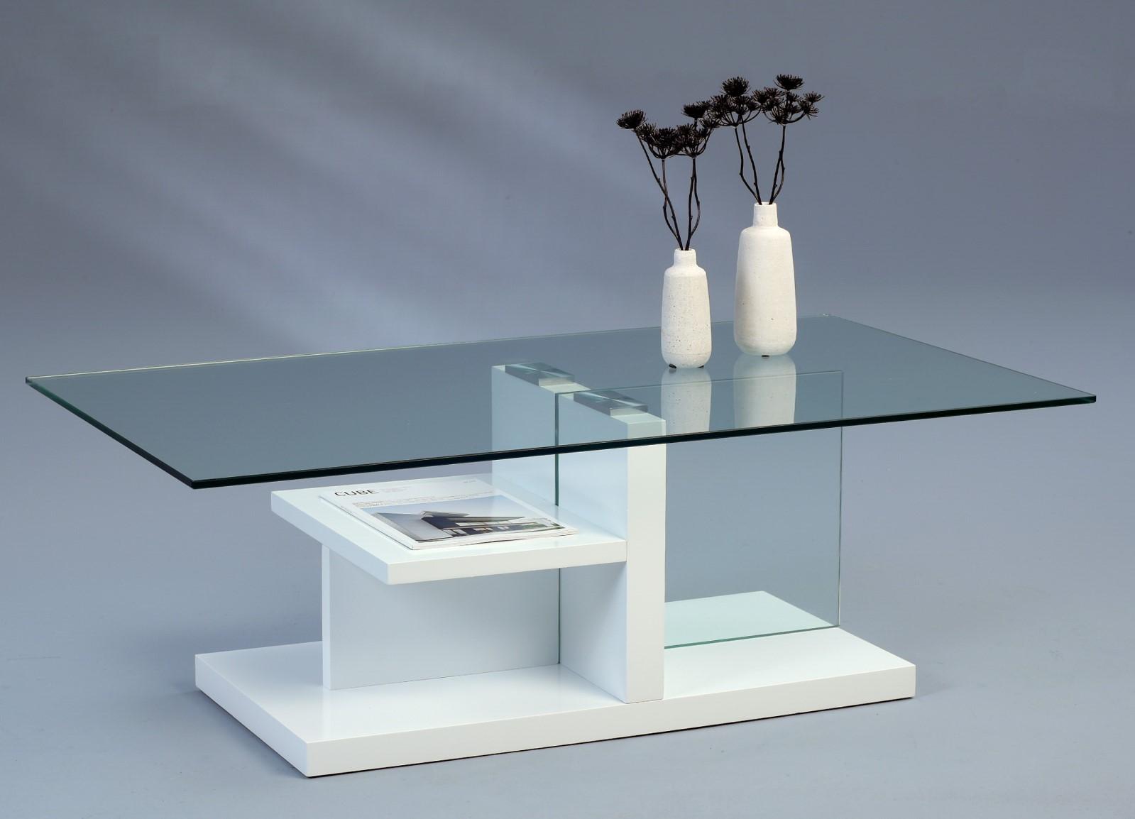 Couchtisch Beistelltisch - Diana - 115x65 cm  Weiss matt