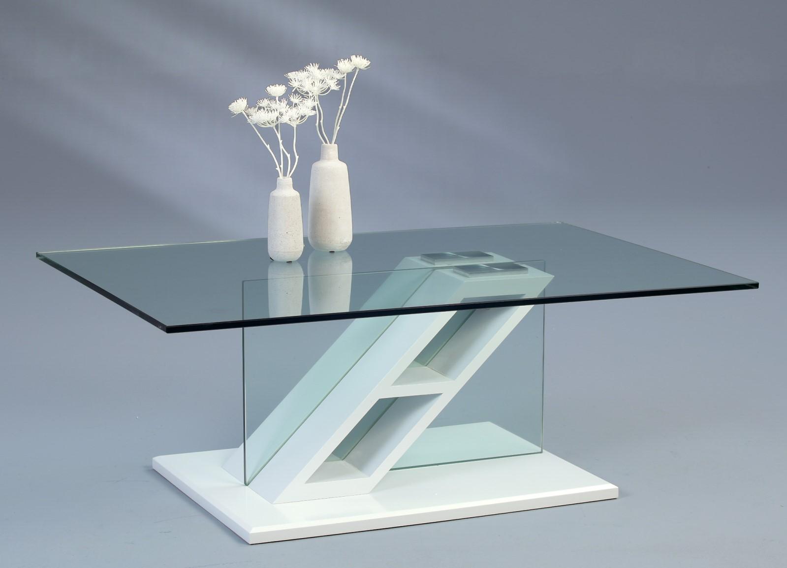 Couchtisch Beistelltisch - Milan - 110x70 cm  Weiss matt
